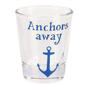 Nautical Theme Anchors Away Shot Glass - 20394A