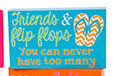 Flip Flop Box Sayings Sign Blue 60149BL