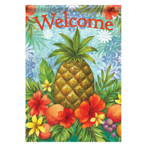 Tropical Pineapple Welcome House Size Flag - 47790