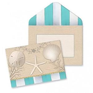 Elegant Beach Shells Note Cards 10 Pack 09-055