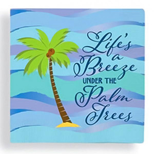 Lifes a Breeze Under Palm Trees Cocktail Beverage Napkins Pk of 20 - 15-223