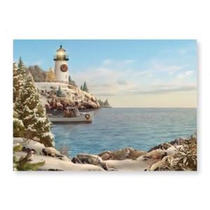 "Christmas Cards ""Holiday LightHouse"" Box of 16 - 25-407"