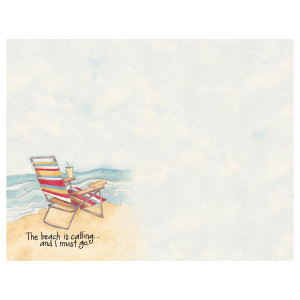 Beach Is Calling and I Must Go List Pad - 27953