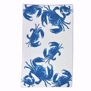 Blue Ocean Crab Cotton Flour Sack Towel - 23163