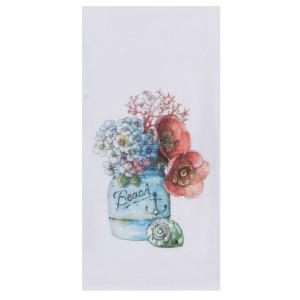 Beach Floral Flour Cotton Tea Towel - R3283