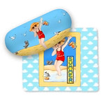 Mary on Summer Vacation Eyeglass Case with Cleaning Cloth 800-06