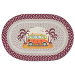 Endless Summer Van 20x30 Hand Printed Oval Braided Floor Rug OP-524