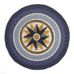 "Compass Round Patch Rug 27""x27""by Earth Rugs RP-350"