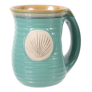 Embossed Shell Cozy Hands Ceramic Mug 16oz 20113G