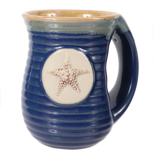 Embossed Starfish Cozy Hands Ceramic Mug 16oz 20113B