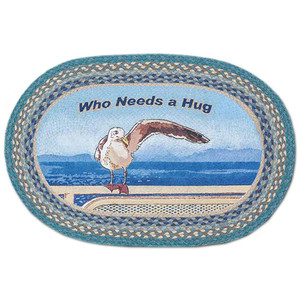 """""""Who Needs A Hug"""" Oval Patch Rug by Earth Rugs 20""""x30"""" OP-467"""