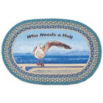 """Who Needs A Hug"" Oval Patch Rug by Earth Rugs 20""x30"" OP-467"