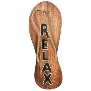 Wooden Flip Flop Sign Relax 60155R