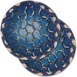 "Turtle Shell Table Coaster - SET OF TWO - 5"" - H-005-5"