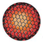 "Orange Turtle Shell Table Trivet - SET OF TWO - 7"" - H-006-7"