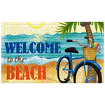 "Tropical Welcome to the Beach Bike Embossed Floor Mat- 18""x30""- 41EM2232"