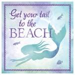 Swimming Mermaid - Single Absorbent Coaster
