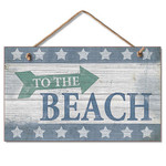 To The Beach - Pressed Wood Sign