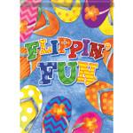 "Flippin Fun - Flip Flops House Size Flag - 40"" x 28"" - 48527"