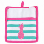 Pineapple Pot Holder with White Towel Gift Set - 60586C