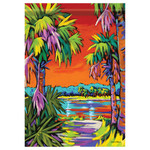 "Tropical Palm Tree Paradise - Garden Flag - 12.5"" x 18"" - 48156"