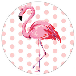 Pink Polka Dot Flamingo- Stone Car Coaster