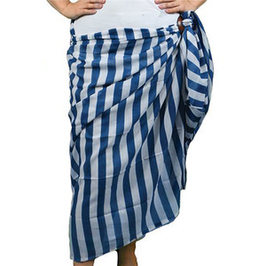 Blue and White Striped Sarong - 20151A