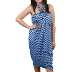 Blue and White Rope Pattern Sarong -20151B
