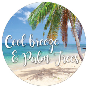 Cool Breeze Palm Trees Absorbent Stone Car Coaster CB73165