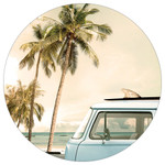 Surf Van Palm Tree - Stone Car Coaster CB72835