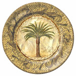 "Majestic Palm 8"" Lunch Plate Gold Melamine 28000"