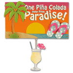 Beach Wood & Metal Sign Pina Colada - 30-003