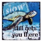 Raised Art Sea Turtle Plaque 34277