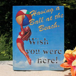 Having a Ball Canvas Wall Sign 34971