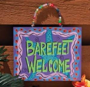 "Beach Sign ""Bare Feet Welcome"" - 35362"