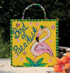 "Pink Flamingo Sign ""Bird of Paradise""  - 35364"