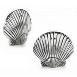 Sea Shell Salt & Pepper Shaker Set - Metal - 104050