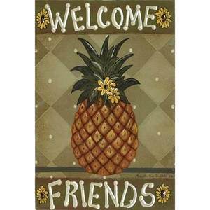 "Pineapple Garden Flag ""Welcome Friends"" - 112134"