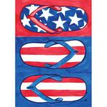 Flip Flops Patriotic Garden Flag - 117097