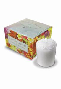 Coconut Hibiscus 4-Pack Glass Votive Candles - 01439000