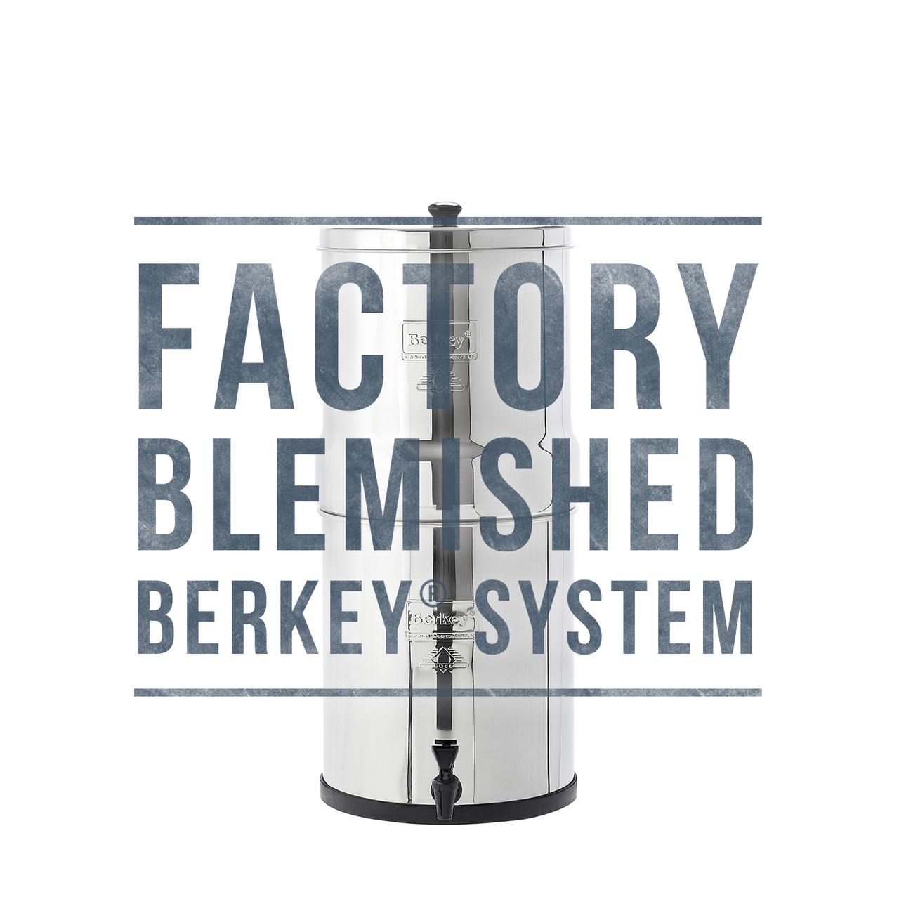 Travel Berkey Water Filter WITHOUT Black Filters W// SS Spigot Authorized Dealer