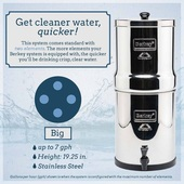 *Big Berkey® System (2.25 gal) with 4 Filters