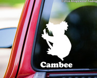 "Koala Bear vinyl decal sticker with Custom Personalized Name 6"" x 4"""
