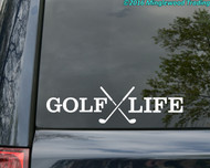 "GOLF LIFE Vinyl Decal Sticker 11.5"" x 3"" Club"