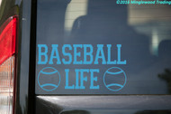 "BASEBALL LIFE Vinyl Decal Sticker 7"" x 3.5"" Little League HS"