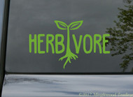 "HERBIVORE Vinyl Decal Sticker 5"" x 3"" Vegan Vegetarian"