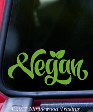 "VEGAN Vinyl Decal Sticker 5"" x 2.25"" Veganism V2"