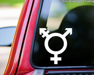 "Transgender Symbol Sign vinyl decal sticker 5"" x 4.5"" Gender Identity Icon"