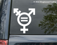 "Transgender Equality Symbol Sign vinyl decal sticker 5"" x 4.25"" Gender Male Female"
