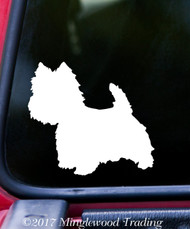 "WEST HIGHLAND WHITE TERRIER Vinyl Decal Sticker 5"" x 4.5"" Westie Westy Dog"